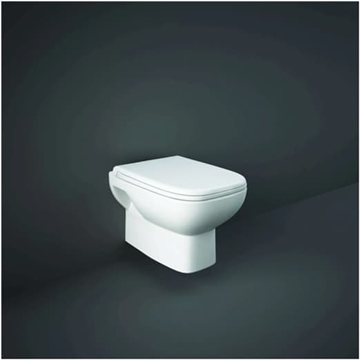 Wall hung toilet system suited to all bathroom sizes and styles